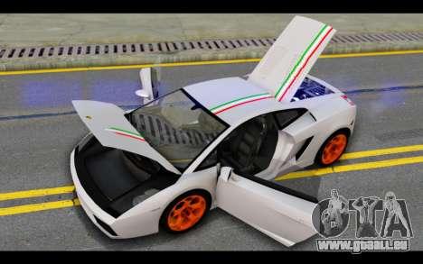 Lamborghini Gallardo für GTA San Andreas Räder