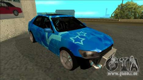 Lexus IS300 Drift Blue Star für GTA San Andreas linke Ansicht