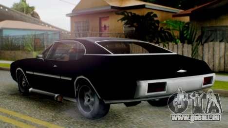 Muscle-Clover Final pour GTA San Andreas sur la vue arrière gauche