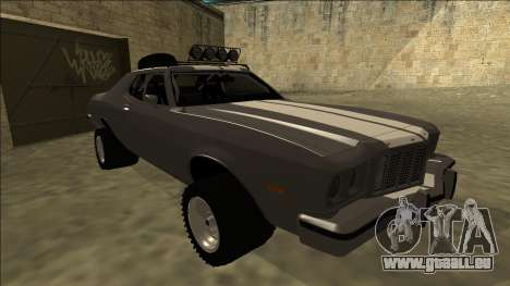 Ford Gran Torino Rusty Rebel pour GTA San Andreas laissé vue