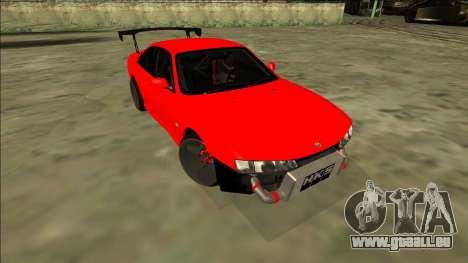 Nissan Silvia S14 Drift pour GTA San Andreas vue de droite