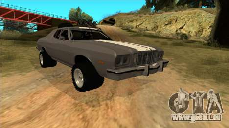 Ford Gran Torino Rusty Rebel pour GTA San Andreas roue