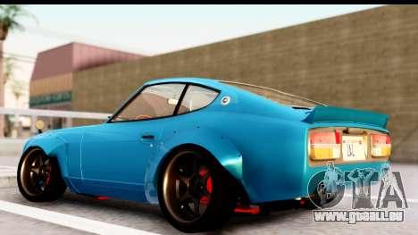 Nissan Fairlady 240Z Rocket Bunny pour GTA San Andreas sur la vue arrière gauche