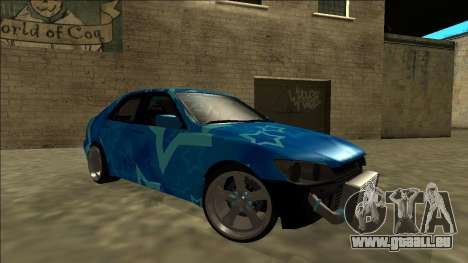 Lexus IS300 Drift Blue Star für GTA San Andreas Innen