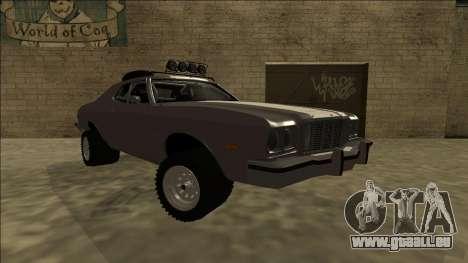 Ford Gran Torino Rusty Rebel pour GTA San Andreas vue de droite