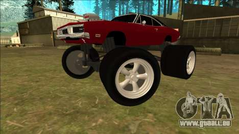Dodge Charger 1969 Monster Edition für GTA San Andreas zurück linke Ansicht
