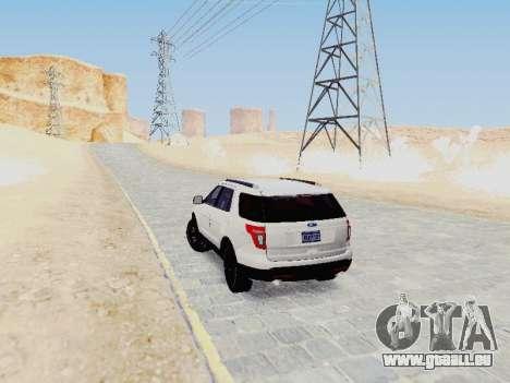 Ford Explorer 2013 Semi-Tuning für GTA San Andreas rechten Ansicht