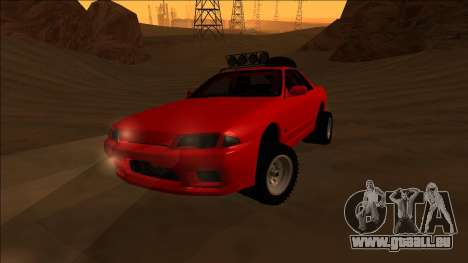 Nissan Skyline R32 Rusty Rebel pour GTA San Andreas vue intérieure
