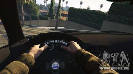 GTA 5 Honda CRX Del Sol arrière droit vue de côté