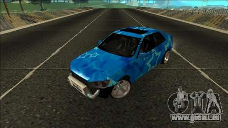 Lexus IS300 Drift Blue Star für GTA San Andreas Rückansicht