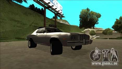 Ford Gran Torino Rusty Rebel pour GTA San Andreas vue de côté