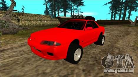 Nissan Skyline R32 Rusty Rebel für GTA San Andreas Unteransicht