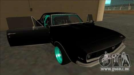 Chevrolet Camaro SS Drift pour GTA San Andreas moteur