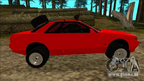 Nissan Skyline R32 Rusty Rebel pour GTA San Andreas roue