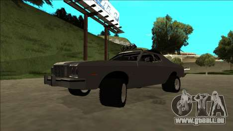 Ford Gran Torino Rusty Rebel pour GTA San Andreas vue de dessus