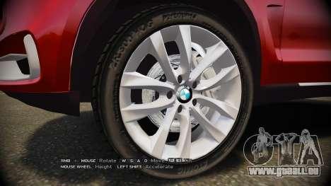 BMW X5 2014 pour GTA 4 Vue arrière