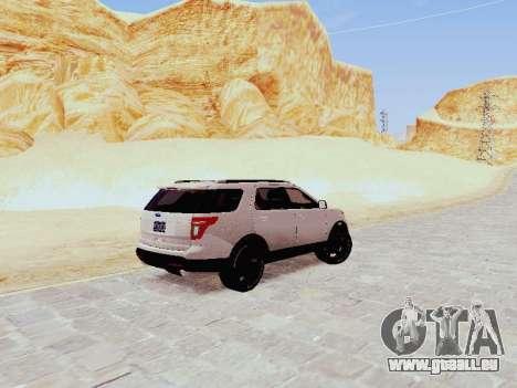 Ford Explorer 2013 Semi-Tuning für GTA San Andreas zurück linke Ansicht