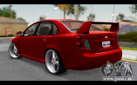 Chevrolet Optra 2007 pour GTA San Andreas laissé vue