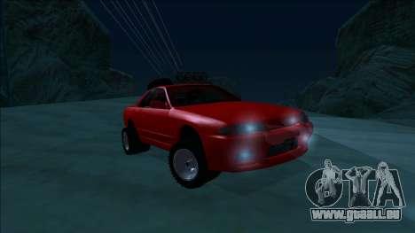 Nissan Skyline R32 Rusty Rebel pour GTA San Andreas vue de côté
