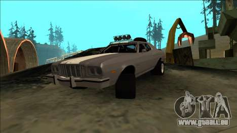 Ford Gran Torino Rusty Rebel pour GTA San Andreas vue intérieure