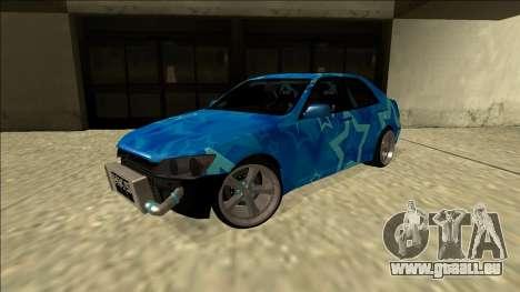 Lexus IS300 Drift Blue Star pour GTA San Andreas sur la vue arrière gauche