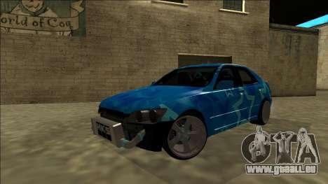 Lexus IS300 Drift Blue Star pour GTA San Andreas vue de dessous