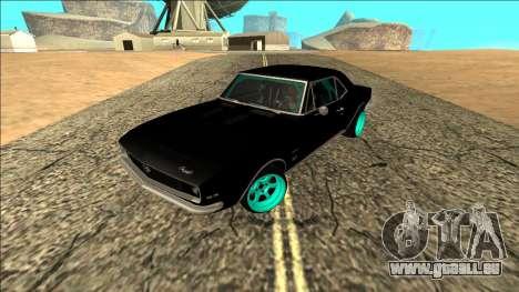 Chevrolet Camaro SS Drift pour GTA San Andreas sur la vue arrière gauche