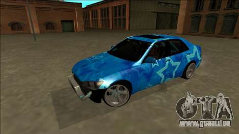 Lexus IS300 Drift Blue Star für GTA San Andreas obere Ansicht