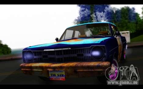 Dodge Dart 1975 v2 Estilo Rusty pour GTA San Andreas vue arrière