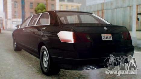 GTA 5 Benefactor Stretch E IVF für GTA San Andreas linke Ansicht