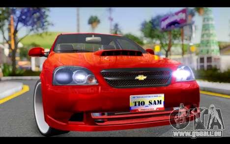 Chevrolet Optra 2007 für GTA San Andreas Rückansicht