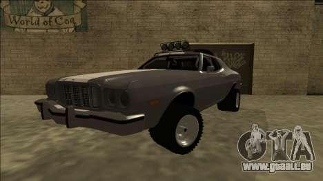 Ford Gran Torino Rusty Rebel für GTA San Andreas zurück linke Ansicht