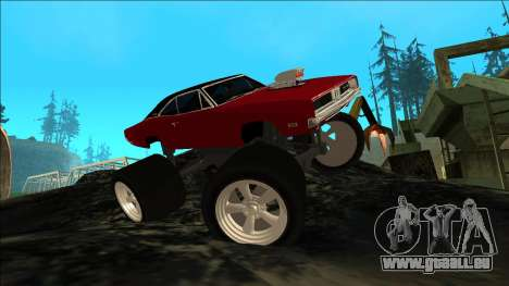 Dodge Charger 1969 Monster Edition für GTA San Andreas Innenansicht