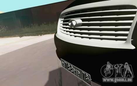 Infiniti QX80 pour GTA San Andreas vue arrière