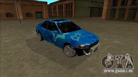 Lexus IS300 Drift Blue Star pour GTA San Andreas vue de côté