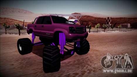 GTA 4 Cavalcade FXT Monster Truck pour GTA San Andreas vue de droite