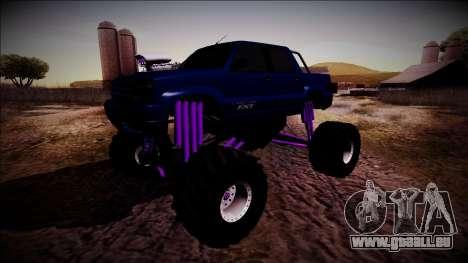 GTA 4 Cavalcade FXT Monster Truck pour GTA San Andreas vue arrière