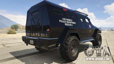 GTA 5 LAPD SWAT Insurgent arrière vue latérale gauche