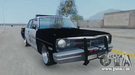Dodge Dart 1975 v3 Police pour GTA San Andreas sur la vue arrière gauche