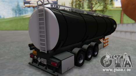 Trailer Cistern für GTA San Andreas linke Ansicht