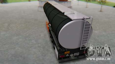 Trailer Cistern für GTA San Andreas zurück linke Ansicht