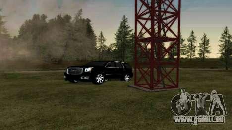 GMC Yukon 2015 für GTA San Andreas Rückansicht