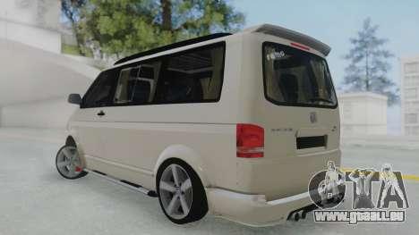 Volkswagen Transporter TDI pour GTA San Andreas laissé vue