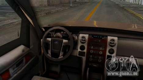 Ford F-150 2001 pour GTA San Andreas vue arrière