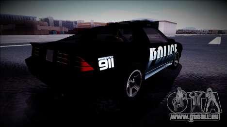 Chevrolet Camaro 1990 IROC-Z Police Interceptor für GTA San Andreas Rückansicht