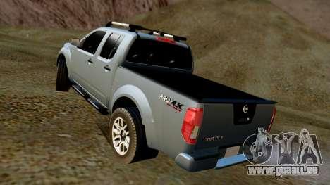 Nissan Frontier PRO-4X 2014 pour GTA San Andreas sur la vue arrière gauche