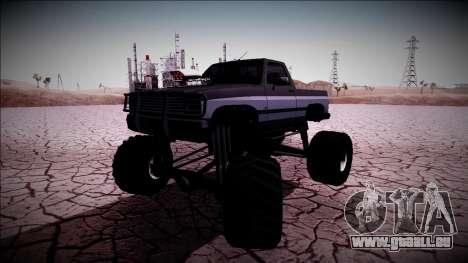 Rancher Monster Truck für GTA San Andreas Seitenansicht