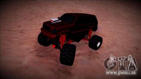 GTA 4 Cavalcade Monster Truck pour GTA San Andreas vue arrière
