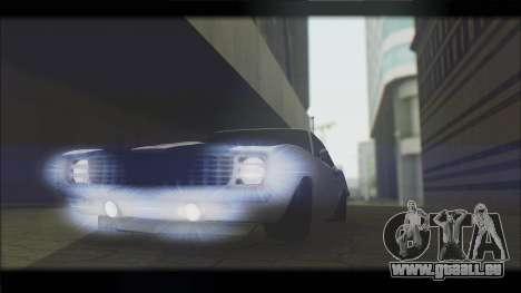 Chevrolet Camaro Z28 1969 Special Edition pour GTA San Andreas vue intérieure