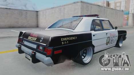 Dodge Dart 1975 v3 Police pour GTA San Andreas laissé vue